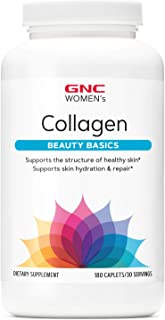 GNC Women's Collagen, 180 Caplets, Supports Healthy Skin and Elasticity