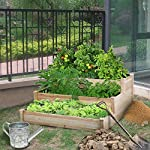 YAHEETECH 3 Tier Raised Garden Bed Wooden Elevated Garden Bed Kit for Vegetables Outdoor Indoor Solid Wood 49 x 49 x 21… 17 Useful & Practical – With this helpful planter, you can cultivate plants like vegetable, flowers, herbs in your patio, yard, garden and greenhouse, and make them more convenient to manage. 3 TIERS DESIGN: This elevated planter provides 3 growing areas for different plants or planting methods. Each tier is connected with wood plugs, which allows this 3-tier garden bed to be easily transformed into 3 single separate growing beds in different sizes if needed. Customizable design – This elevated planter provides 3 growing areas for different plants or planting methods. Each tier is connected with wood plugs, which allows this 3-tier garden bed to be easily transformed into 3 separate growing beds in different sizes if needed.