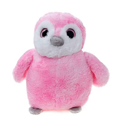 WILDREAM Soft and Cuddly Perky Pink Penguin Plu...