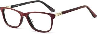 Non-Prescription Eyewear Frame Rectangular Eyeglasses Spring Hinge