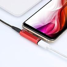 Fandazzie Para Carga de Adaptador de Auriculares Tipo C Escuchar música Convertidor de Audio 2 en 1 Accesorios de móviles y telefonía