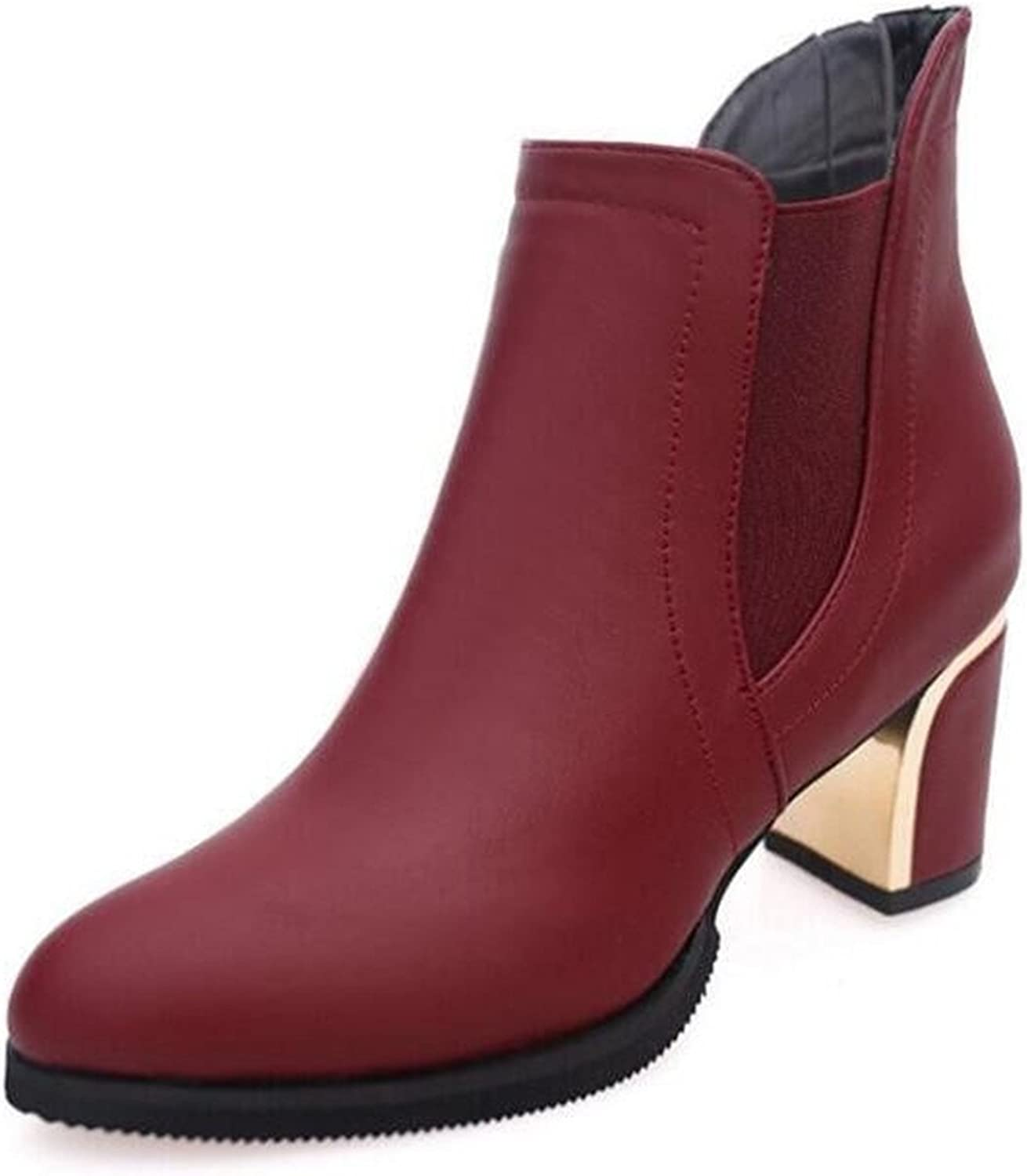 Henraly Winter Women Ankle Boots Solid European Ladies shoes Boots Size 35-40