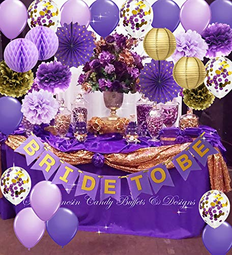 bridal shower purple - 4