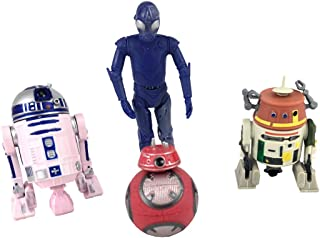 Galaxy's Edge Star Wars Color-Changing 1 Protocol and 3 Astromech Droid Action Figure Set - 4 Pack