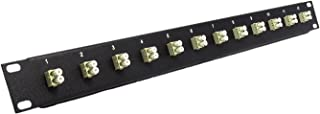 12 Port LC Fiber Patch Panel Multimode (Loaded 1u) 19