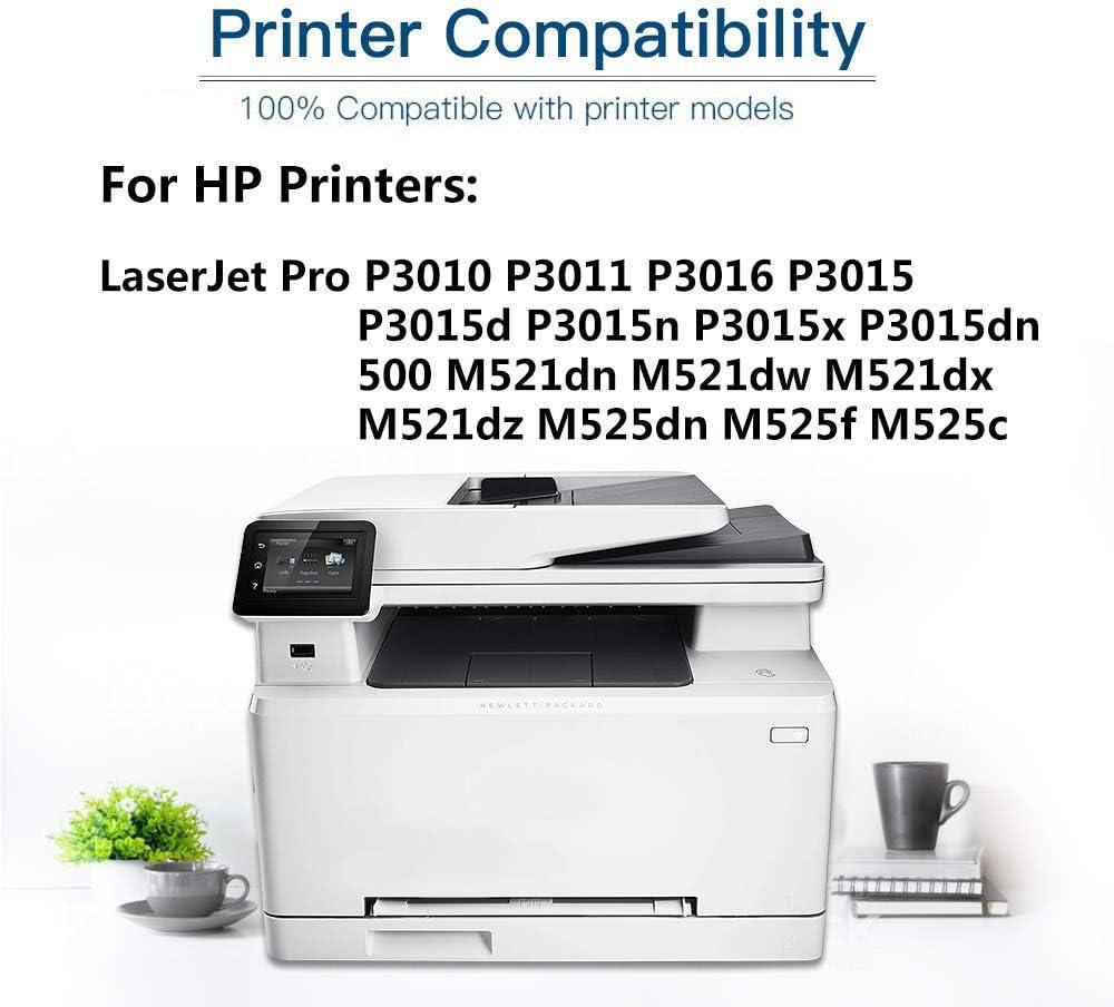 1-Pack Compatible Printer Toner Cartridge High Yield Replacement for HP 55X CE255X Printer Toner use for HP Enterprise P3010 P3011 P3016 P3015d P3015n Printer (Black)