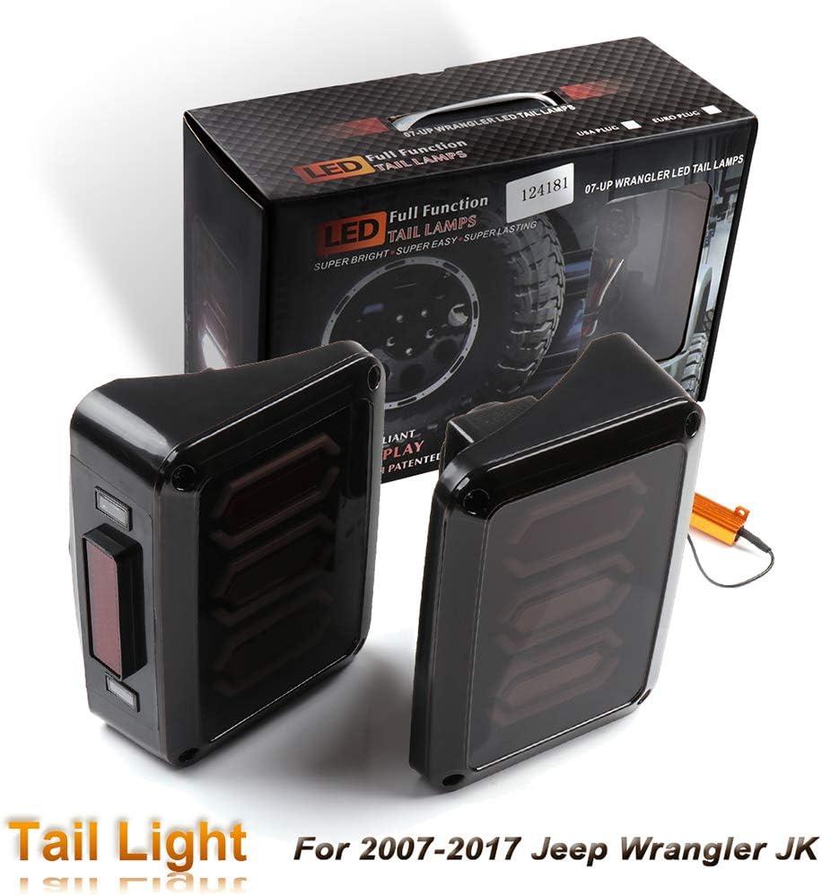 cciyu LED Tail Lights Smoke Lens Brake Spring new work San Antonio Mall 2007 for Fit Reverse Lamp
