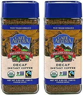 Cafe Altura Organic Fair Trade Decaf Instant Coffee, 3.53 oz (Pack Of 2)