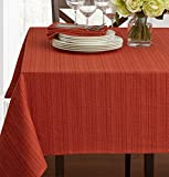 Textured Fabric Tablecloth, Bison, 60
