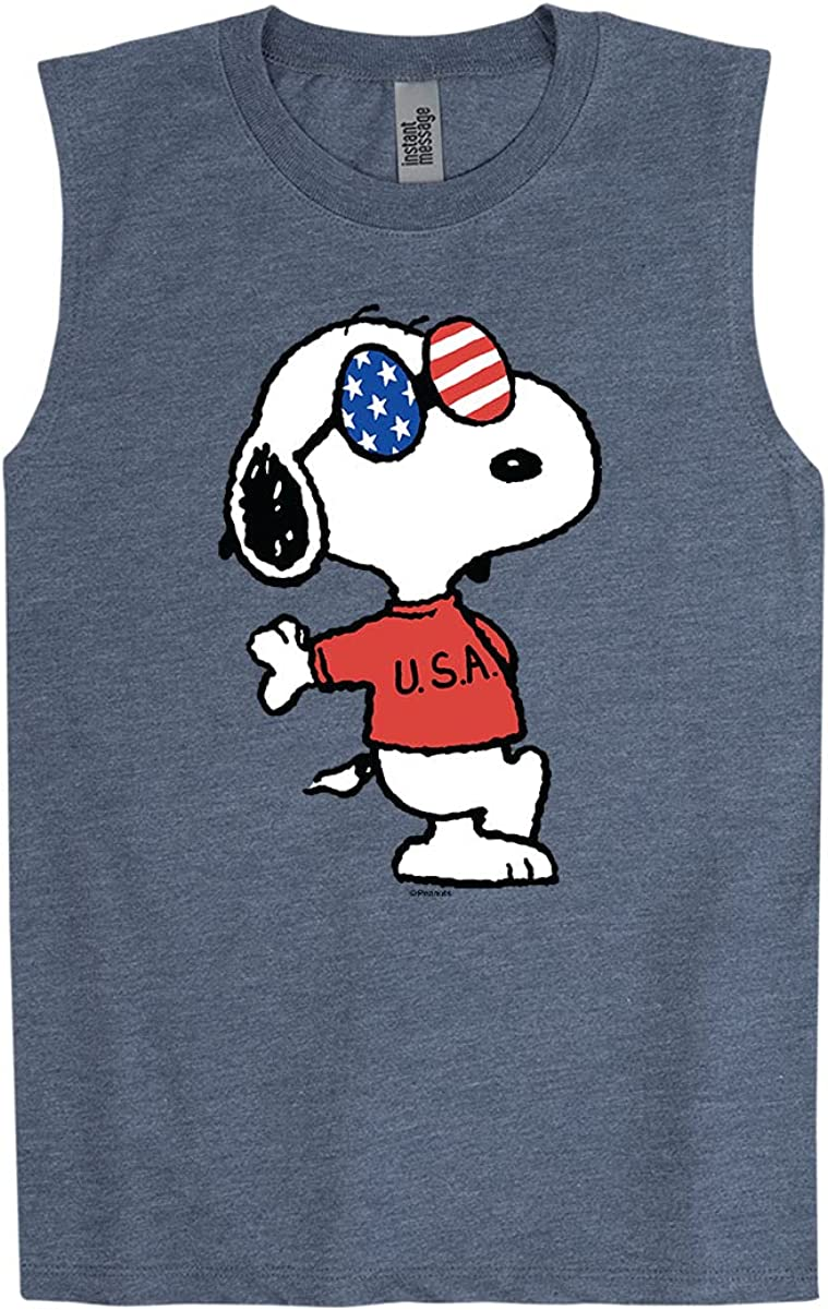 Peanuts - Americana Snoopy - Youth Muscle Tank