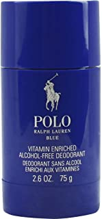 POLO BLUE by Ralph Lauren DEODORANT STICK ALCOHOL FREE 2.6 OZ for MEN ---(Package Of 2)