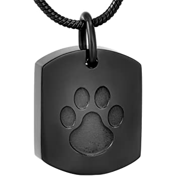 misyou Eternity Memory Memorial Urn Jewelry pet cat Ashes Water Droplets Cremation Necklace for Women//Men