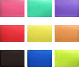Neewer Correction Gel Light Filter Transparent Color 12x8.5 inches/30x20 centimeters 18 Sheet with 9 Colors: Red Blue Pink Cyan Purple Orange Green Yellow Black for Photo Studio Strobe Flash LED Light