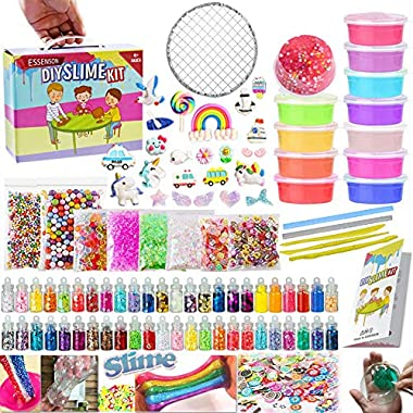 DIY slime art craft kit charms is a perfect stress relief toy for boys and girls! Whether you're looking for a toy for sensory play, slime party favor, holiday fun, the mystery slime package In the process of playing, people can exercise the coordina...