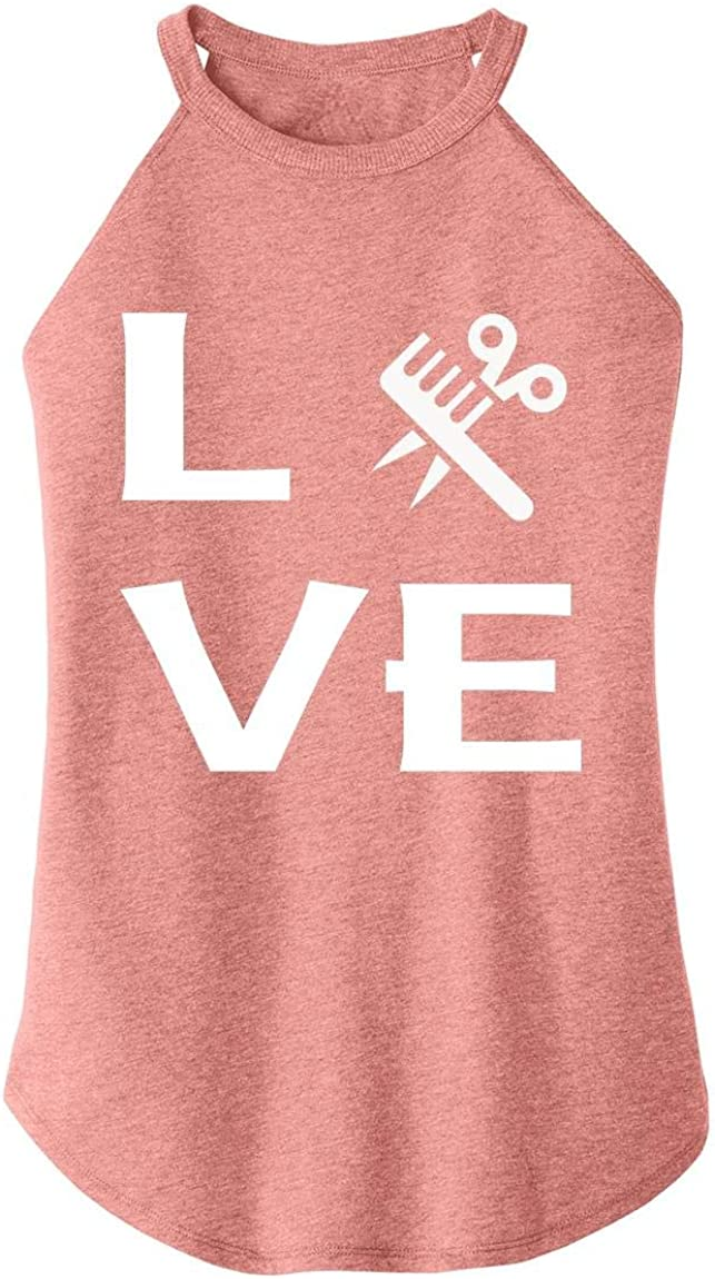 Comical Shirt Ladies Love Hairstylist Cute Barber Gift Tee Rocker