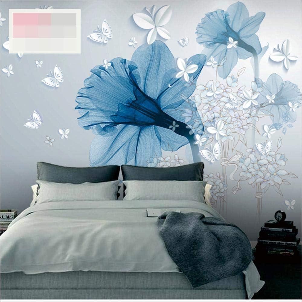 Wallpaper Blue Aesthetic Flower Art Background Wallpaper Wall Cloth Bedroom Wallpaper Wall Painting 350cm 245cm Amazon Com