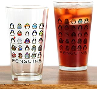 CafePress Lots Of Penguins Pint Glass, 16 oz. Drinking Glass