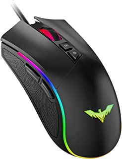 havit Ratón Gaming 7 Botones Mouse Gaming programables Iluminación RGB [800-1600-2400-4800] para Windows7/8/10/Xp/Vista/Li...