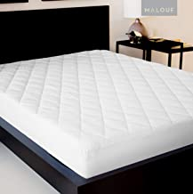 MALOUF Quilted Soft Down Alternative Fill-Hypoallergenic mattress-pads, King, White