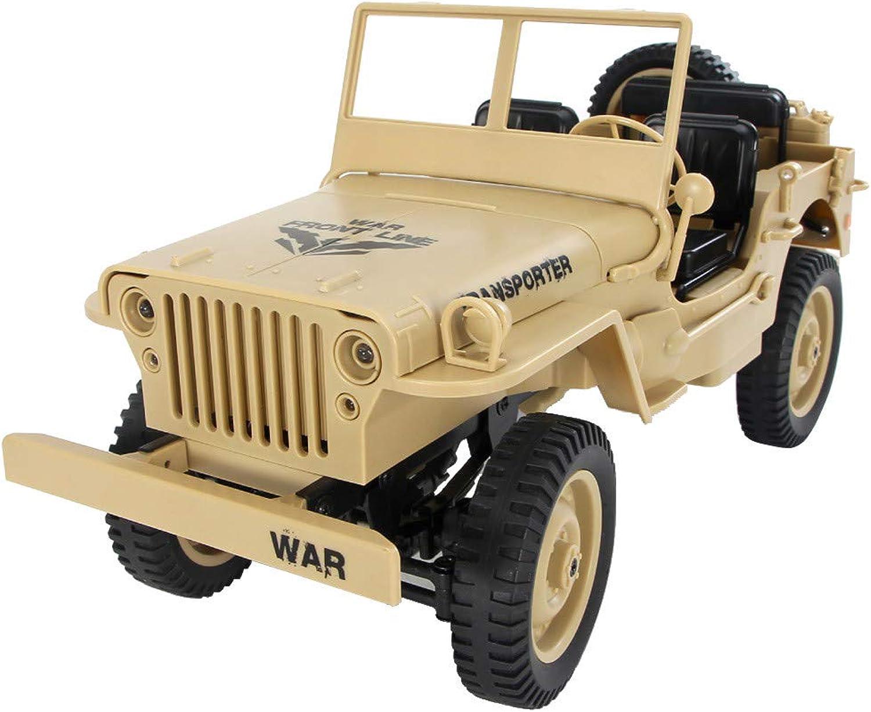 Auto klettern Jedi Cabrio Fernbedienung Auto Licht Jeep Allradantrieb Off-Road JJRC Q65 1 10 2.4G RC Open Car Militrjeep Offroad 4WD Rock Crawler RTR Spielzeug (Gelb)