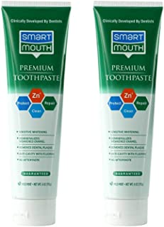 SmartMouth Premium Toothpaste for Elite Oral Health Protection, 6 oz., 2-Pack