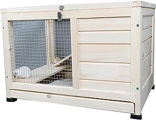 ハムスター ケージうさぎ ケージ木製ウサギハッチケージ小さなペットハウスモルモットハムスターウッドケージ用ラダーペット用遊び場,S60*40*40cm