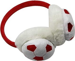 ANKOMINA أغطية الأذن الشتوية للأطفال لكرة القدم لطيف دافئ الفراء الصناعي لتدفئة الأذن للأولاد والبنات