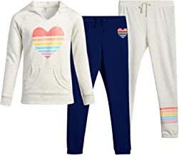 Pullover Hoodie Sweatshirt and Sweatpants 3-Piece Set WallFlower Girls Active Jogger Set