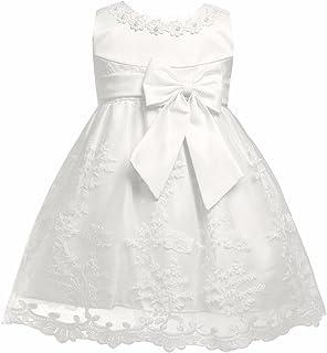 e9acc9d22fb44 IEFIEL Lace Princesse Robe De Mariage Cérémonie Bébé Filles Tutu Robe de  Soirée Demoiselle Dentelle Robe