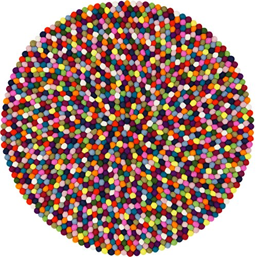 myfelt Filzkugelteppich Lotte - 90 cm