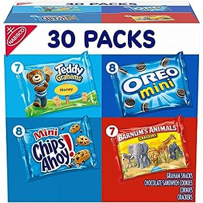p Team Favorites Variety Pack, OREO Mini, CHIPS AHOY! Mini, Teddy Grahams Honey & Barnum's Animal Crackers, School Lunch Box Snacks, 30 Snack Packs
