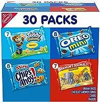Nabisco Team Favorites Variety Pack, OREO Mini, CHIPS AHOY Mini, Teddy Grahams Honey & Barnum's Animal Crackers, 30...