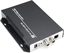 URayCoder HEVC H.265 H.264 SD HD 3G SDI to IP Encoder IPTV HD Video Audio Live Streaming Encoder HD-SDI Transmitter with HTTP, RTSP, UDP, HLS, ONVIF, RTMP, Multicast, Unitcast