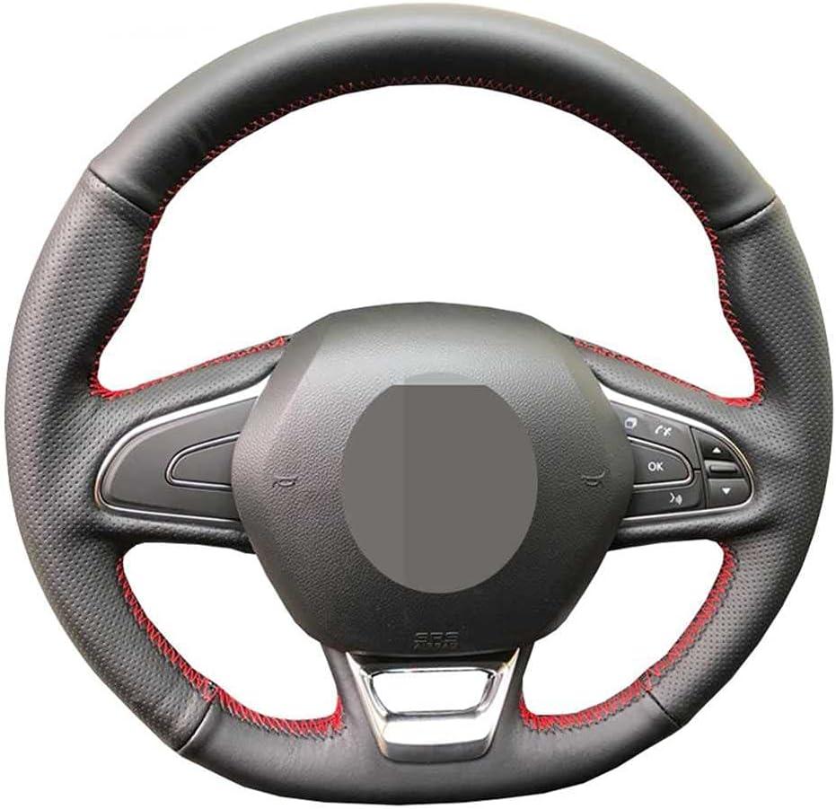 NASHDZ Max 88% OFF Car Steering Wheel Cover DIY Kadj Ranking TOP15 Fit Leather for Renault