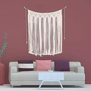 indigo macrame wall hanging