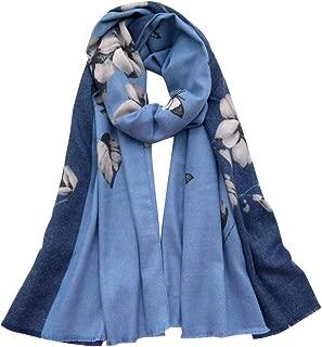 Women Winter Cashmere Scarf Soft Ladies Wool Cotton Warm Pashminas Long Shawls Lightweight Wraps Autumn