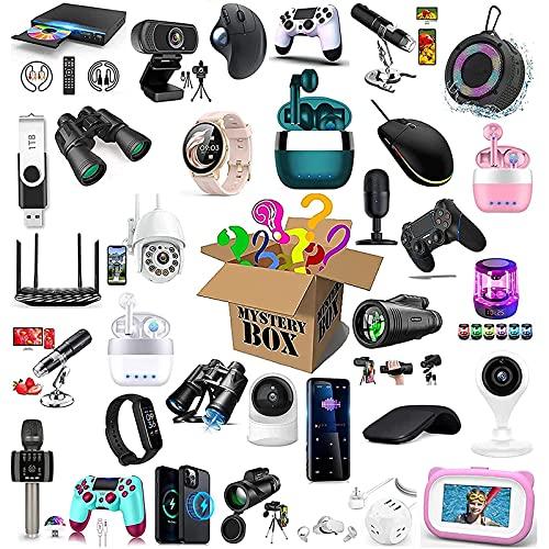 Mystery Box Electronics, Surprise Box, Electronic Equipment, Probablemente obtendrá: Teléfono Drone Smart Watch Auriculares Bluetooth Cualquier Caja de Regalo Posible Misterio