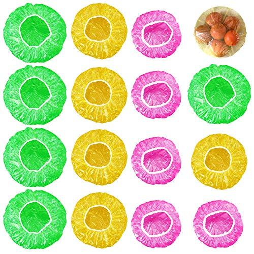 MIZOMOR 120Pcs Elastic Food Storage Covers Colorful Bowl Covers Dish Plate Plastic Food Covers for Family Refrigerator Outdoor Picnic 3 Sizes