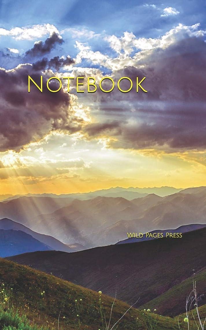 爆発絶妙ムスNotebook: sunset dawn nature mountains landscape grass