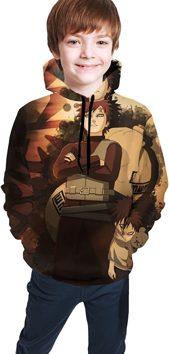 Anime Gaara Boy's Pullover 3D Graphic Hooded