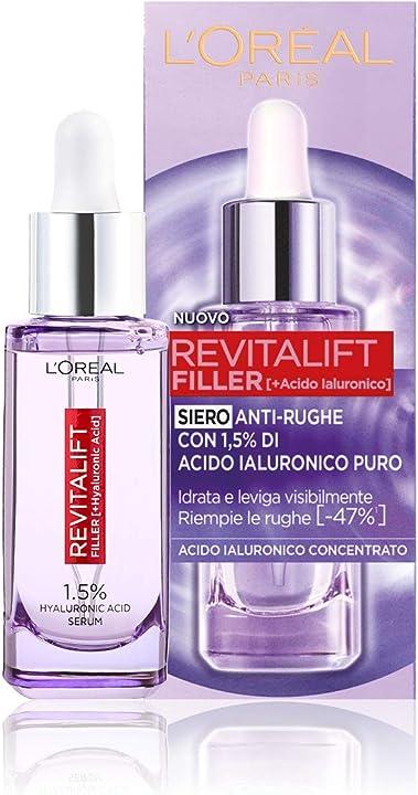 L`oréal paris siero viso revitalift filler, azione rimpolpante e anti-rughe, concentrato con acido ialuronico Aa062000
