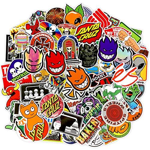 HAOZH Pegatinas de monopatín de Calle Europeas y Americanas, Pegatinas de Graffiti de la Marca Tide, Maleta, portátil, Guitarra, Impermeable, 100 Hojas