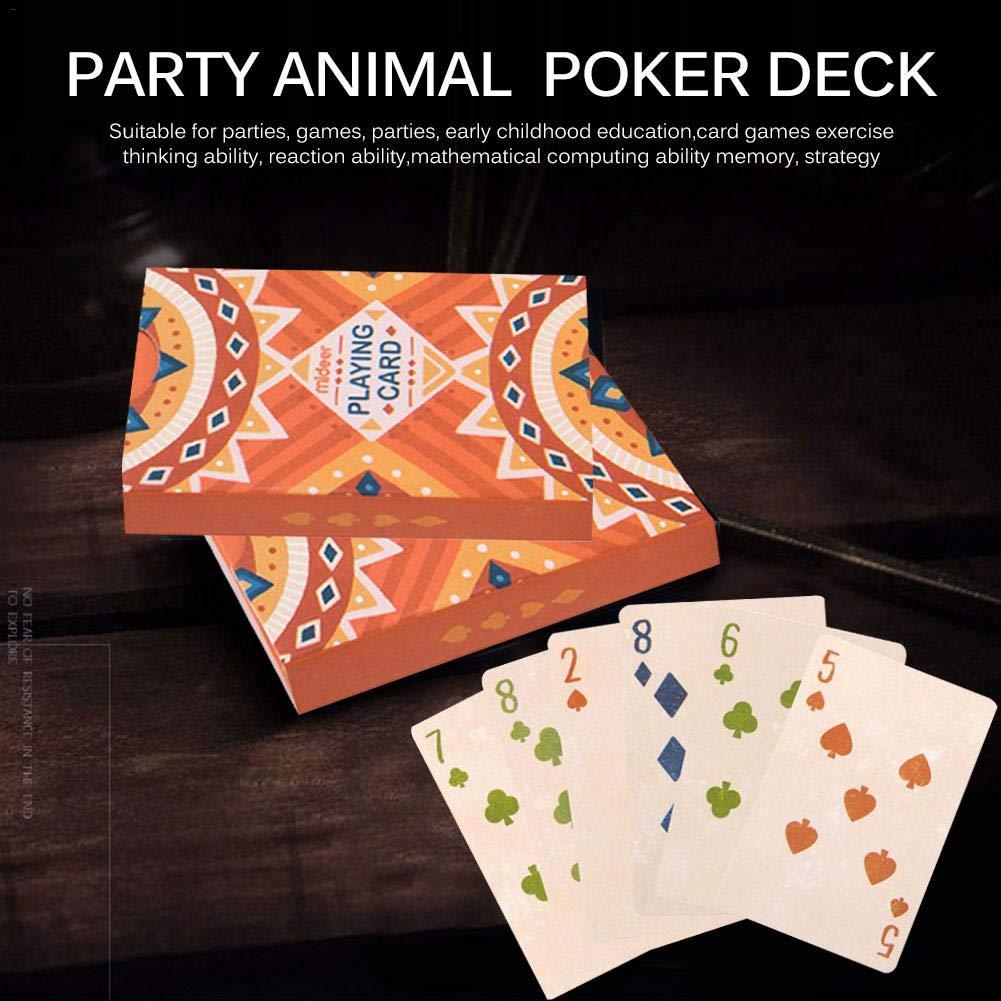 Kathariiy Party Animal Puzzle Juego de Mesa Juego de Cartas Juego de Cartas para niños y Adultos Juegos de Cartas Juegos Tamaño estándar (3.46 X 2.28in) Typical: Amazon.es: Hogar