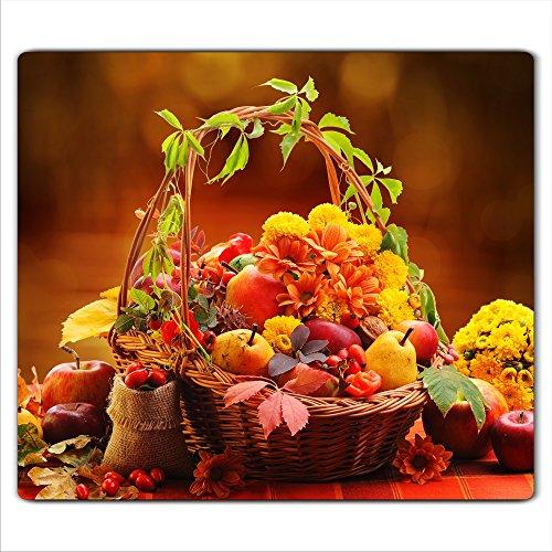 Decorwelt Afdekplaten, voor kookplaten, keramische kookplaten, universele elektrische inductie, voor kookplaten, warmtebescherming, decoratie, snijplank, veiligheidsglas, spatbescherming, glas, vruchten