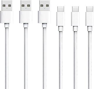 USB Type c ケーブル 3本セット 1m タイプc ケーブル USB-C & USB-A 急速充電 高速データ転送 Quick Charge 2.0対応 type-c 充電器 高耐久Type-c機器充電 アンドロイド多機種対応