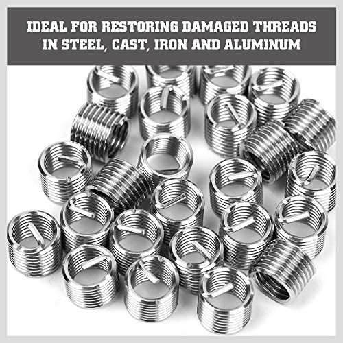 SEDY 131-Pieces Thread Repair Kit, HSS Drill Helicoil Repair Kit Metric M5 M6 M8 M10 M12