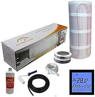 Nassboards Premium Pro - Kit de Calefacción Eléctrica Caja Amarilla Por Suelo Radiante de 150 W - 5.0m² - Termostato Negro...