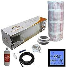 Nassboards Premium Pro - Kit de Calefacción Eléctrica Caja Amarilla Por Suelo Radiante de 200 W - 10.0m² - Termostato Negr...