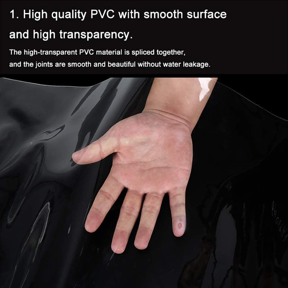 YUMUO Bâche en Tissu étanche à la Pluie Toile Transparente Toile Transparente Balcon Tente de Pluie Tissu Solaire PVC Feuille de Plastique épais (Taille: 18 25 m) 1