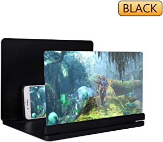 KtdaysB Mobile Screen Magnifier - 3D Mobile Phone Amplifying Screen Supporto desktop pieghevole per tutti i modelli di sma...